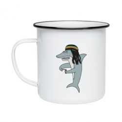 Кружка емальована Shark Rastaman
