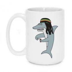 Кружка 420ml Shark Rastaman