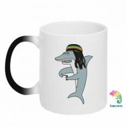 Кружка-хамелеон Shark Rastaman