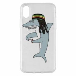 Чохол для iPhone X/Xs Shark Rastaman