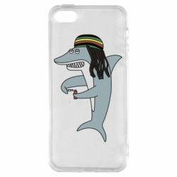 Чохол для iphone 5/5S/SE Shark Rastaman