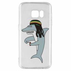 Чохол для Samsung S7 Shark Rastaman