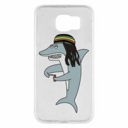 Чохол для Samsung S6 Shark Rastaman