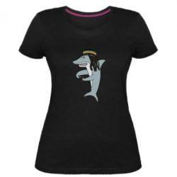 Жіноча стрейчева футболка Shark Rastaman