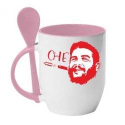 Кружка з керамічною ложкою Сhe Guevara bullet