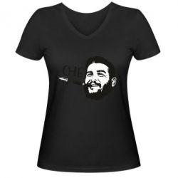 Жіноча футболка з V-подібним вирізом Сhe Guevara bullet