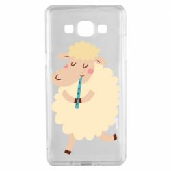 Чехол для Samsung A5 2015 Sheep with flute - FatLine