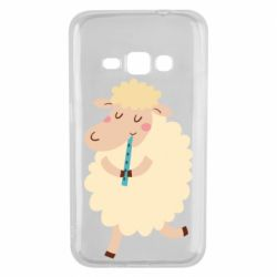 Чехол для Samsung J1 2016 Sheep with flute