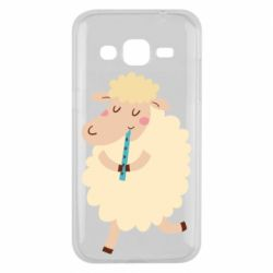 Чехол для Samsung J2 2015 Sheep with flute