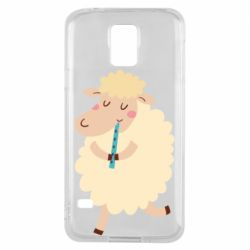 Чехол для Samsung S5 Sheep with flute - FatLine