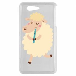 Чехол для Sony Xperia Z3 mini Sheep with flute - FatLine
