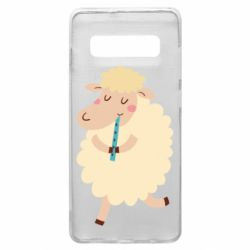 Чехол для Samsung S10+ Sheep with flute - FatLine