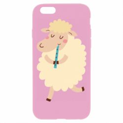 Чехол для iPhone 6 Plus/6S Plus Sheep with flute - FatLine