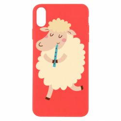Чехол для iPhone X/Xs Sheep with flute - FatLine