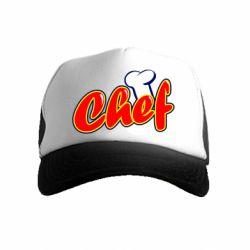 Детская кепка-тракер Шеф-повар