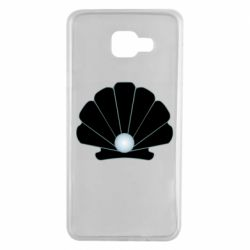 Чехол для Samsung A7 2016 Shell with a pearl