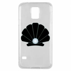 Чехол для Samsung S5 Shell with a pearl