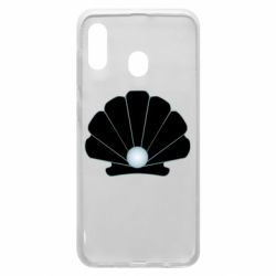 Чехол для Samsung A30 Shell with a pearl