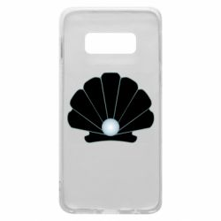 Чехол для Samsung S10e Shell with a pearl