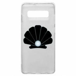 Чехол для Samsung S10+ Shell with a pearl
