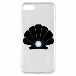 Чехол для iPhone 7 Shell with a pearl