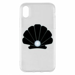 Чехол для iPhone X/Xs Shell with a pearl