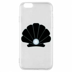 Чехол для iPhone 6/6S Shell with a pearl