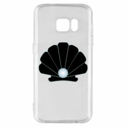 Чехол для Samsung S7 Shell with a pearl