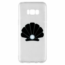 Чехол для Samsung S8+ Shell with a pearl
