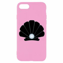 Чехол для iPhone 8 Shell with a pearl