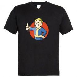 Мужская футболка  с V-образным вырезом Shelter - FatLine