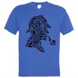 Чоловіча футболка з V-подібним вирізом Sherlock Holmes