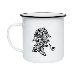Кружка емальована Sherlock Holmes