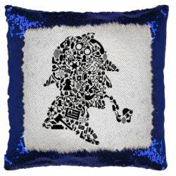 Подушка-хамелеон Sherlock Holmes