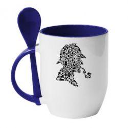 Кружка з керамічною ложкою Sherlock Holmes