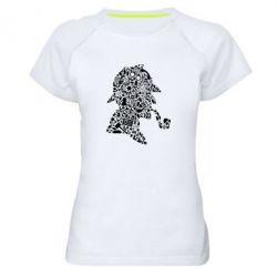 Жіноча спортивна футболка Sherlock Holmes