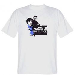 Мужская футболка Sherlock (Шерлок Холмс)