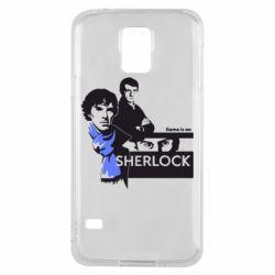 Чехол для Samsung S5 Sherlock (Шерлок Холмс)