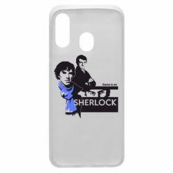Чехол для Samsung A40 Sherlock (Шерлок Холмс)