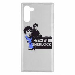 Чехол для Samsung Note 10 Sherlock (Шерлок Холмс)