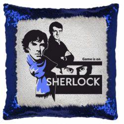 Подушка-хамелеон Sherlock (Шерлок Холмс)