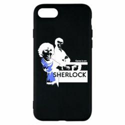 Чехол для iPhone 8 Sherlock (Шерлок Холмс)
