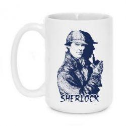 Кружка 420ml Шерлок рисунок