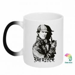 Кружка-хамелеон Шерлок рисунок