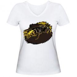 Купить Женская футболка с V-образным вырезом Shershen, FatLine