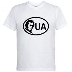 Мужская футболка  с V-образным вырезом Shevchenko UA - FatLine