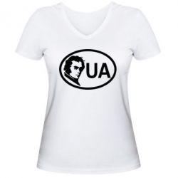 Женская футболка с V-образным вырезом Shevchenko UA - FatLine