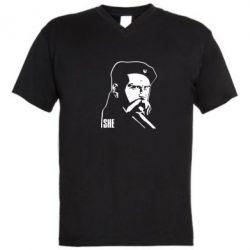 Мужская футболка  с V-образным вырезом Sheвченко - FatLine