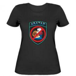 Женская футболка Шеврон Анти Аватар - FatLine