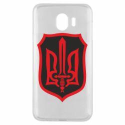 Чехол для Samsung J4 Shield with the emblem of Ukraine and the sword